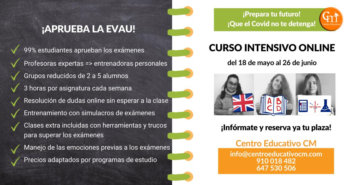 Curso Intensivo para preparar la EVAU en Centro Educativo CM